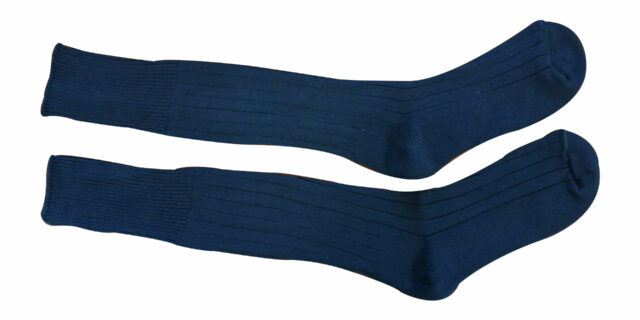 Army-type Long Socks with Sole Padding (Blue) – NEW